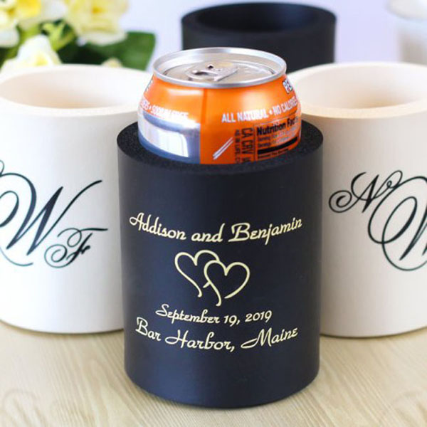 custom rubber koozie wedding koozies promotional custom ...